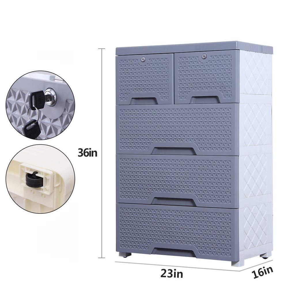 Movable Storage Cabinet,Multipurpose Furniture Organizer,Nafenai Home Bedroom Office 4-layers Storage Cart with 2 Cabinets ,Durable and Environmental-friendly by Nafenai (Image #2)