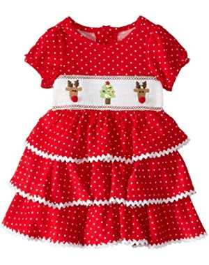 Baby Girls' Corduroy Smocked Tiered Dress