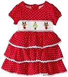 Mud Pie Baby-Girls Newborn Corduroy Smocked Tiered Dress, Multi, 0-6 Months
