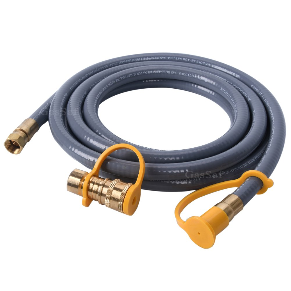 GasSaf 12Feet Natural Gas and Propane Gas Hose Assembly 3/8inch Female Pipe Thread x 3/8inch Male Flare Quick Connect/Disconnect- CSA Certified by GasSaf (Image #6)