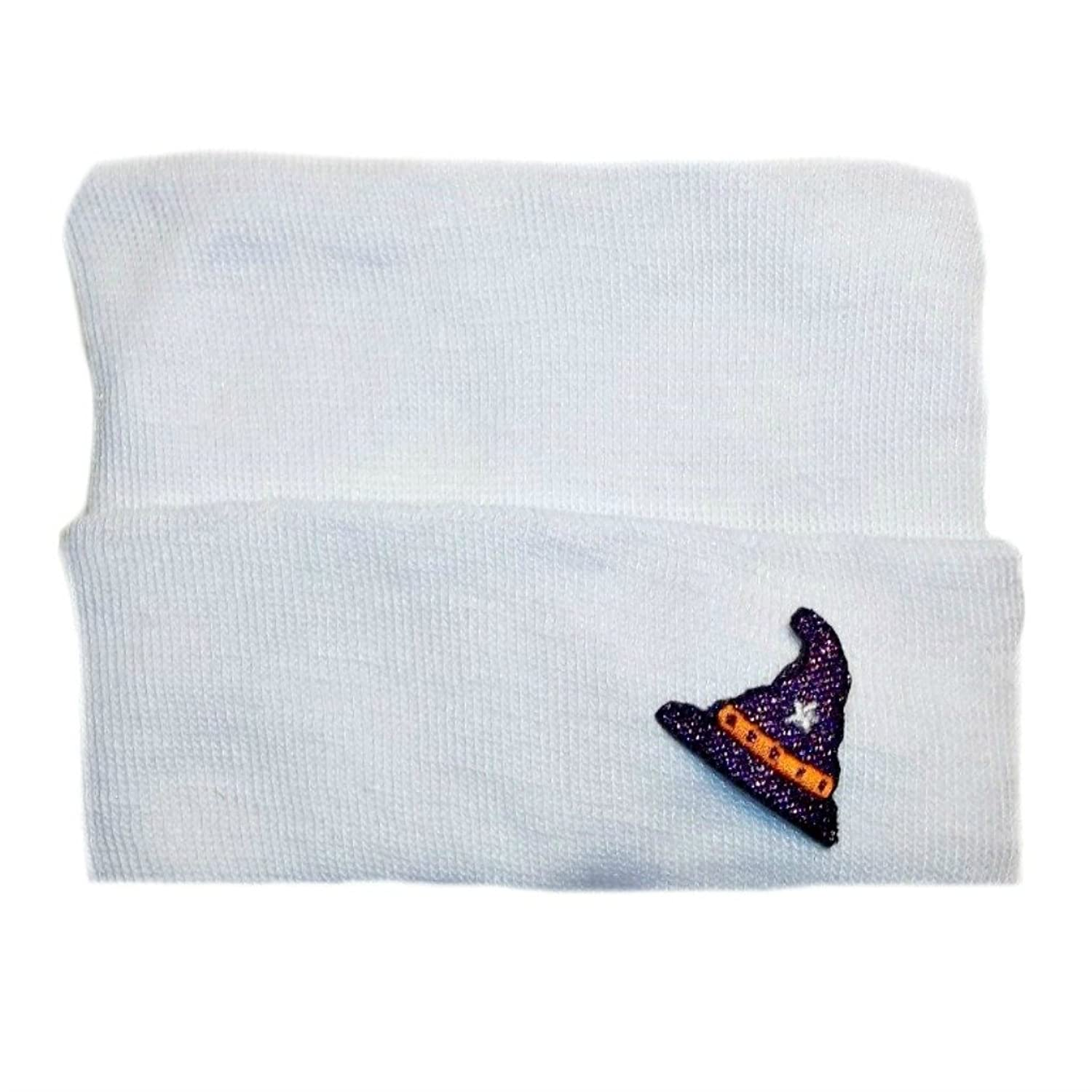 hot Jacqui's Unisex Baby Hospital Hat With Halloween Wizard Patch hot sale