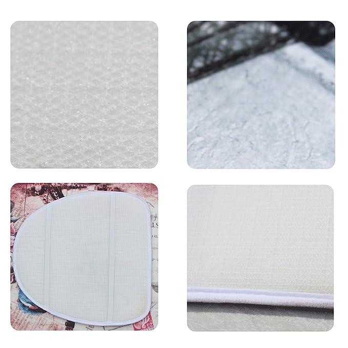 Torre Eiffel 3 piezas alfombrilla de baño conjuntos, ya Jin tela de franela antideslizante alfombras alfombra + tapa para tapa de inodoro + alfombra de ...