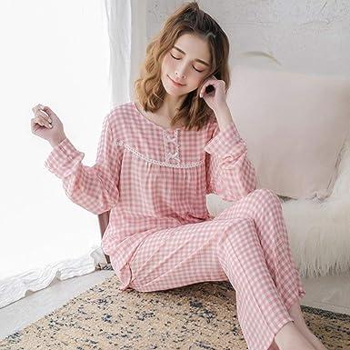 SUZHENA Pijama Estilo Encantador Algodón Pijamas Mujeres Otoño ...