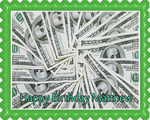 100 dollar bills Edible Cake Topper - 7.5