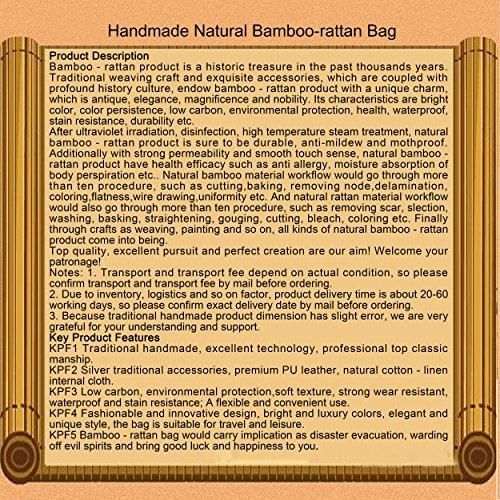 ricamo a mano maglia / tessere borsa di bambù rattan paglia / borse a mano/borse a spalla