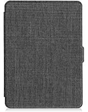 Fintie Hoes voor Kindle Paperwhite - Protective Premium Vegan Leather Cover Case voor All Paperwhite Generations Prior to 2018 (Not Fit All-new Paperwhite 10th Gen), Denim Grijs