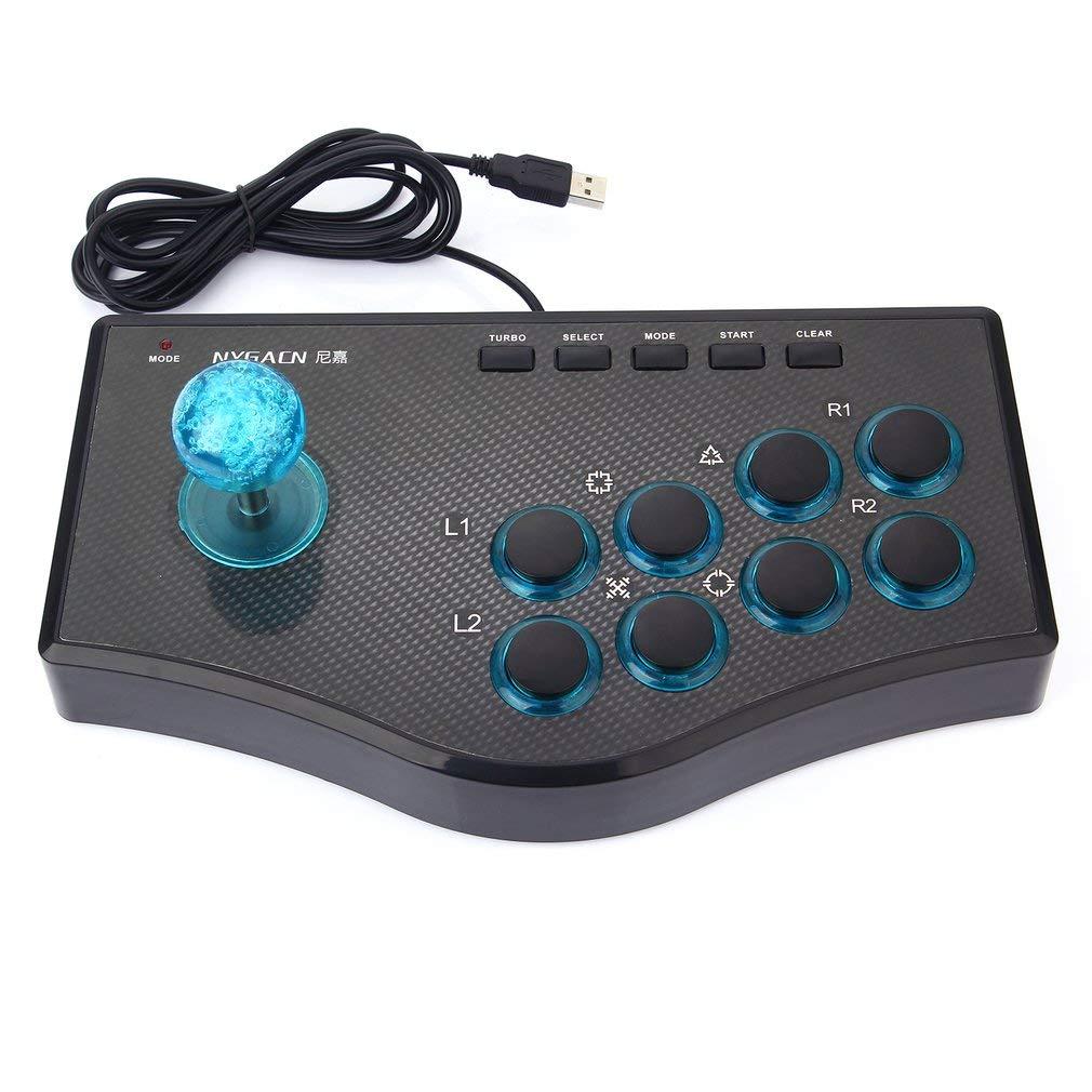 Controlador de juego con cable USB 3 en 1 Arcade Fighting Joystick Stick Gaming Console (Color: negro): Amazon.es: Videojuegos