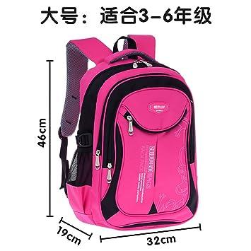 5a3602fbee Children School Bags for Girls Backpacks Brand Design Teenagers Students  Travel Bag Orthopedic Backpack Schoolbag Boys Rucksacks Red  Amazon.co.uk   Luggage