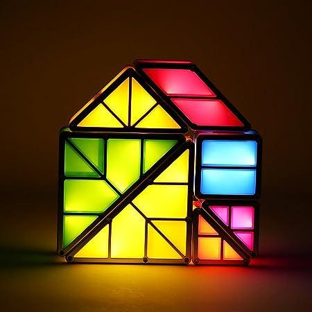 Tangram Puzzle lámpara de mesa, 3d batería Teris LED decorativa de ...