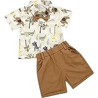 Conjunto de niño de 1 a 5 años de verano 2 piezas camisa polo camiseta de manga corta con pajarita + pantalones cortos…