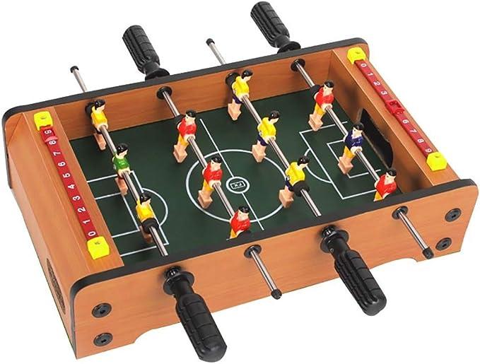 Futbolines Futbolín/Tabla del fútbol niño/foozeballs Bolas de Mesa/futbolín/Cuatro Polos futbolín Mesa de Juego/Interactivo (Color : Wood Color, Size : 36.5 * 21.5 * 9cm): Amazon.es: Hogar