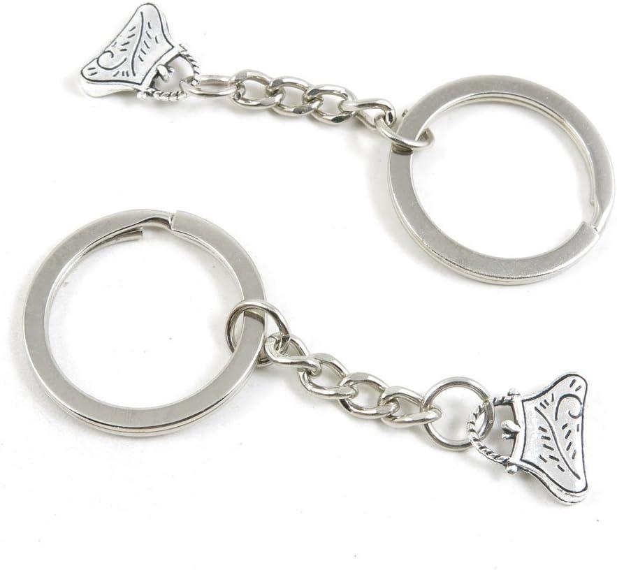 100 Pieces Keychain Keyring Door Car Key Chain Ring Tag Charms Bulk Supply Jewelry Making Clasp Findings J8IR7A Shoulder Bag Handbag Purse