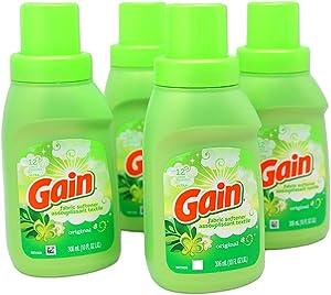 Gain Fabric Laundry Softener Original Scent | 10 FL OZ Bottles of Fabric Softener for Laundry (4 Pack)