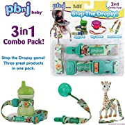 Stop the Dropsy 3-in-1 Pack for sippy cup, pacifier, toys (Jungle)