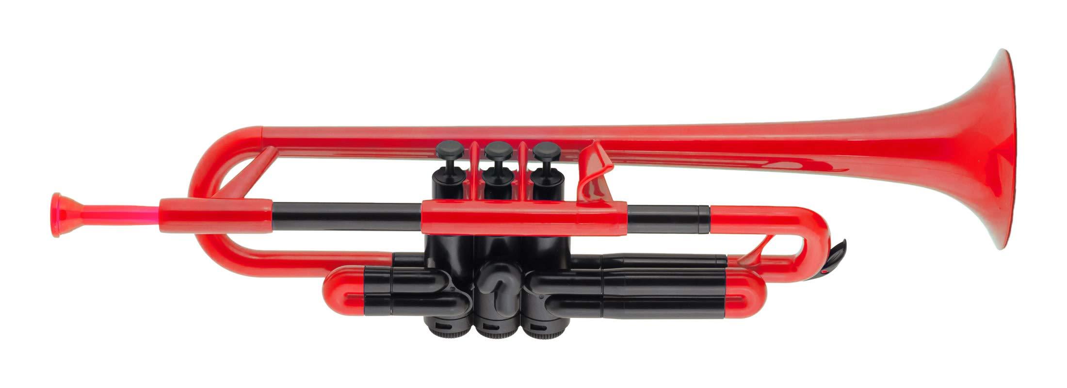 pBone PTRUMPET1R Plastic Trumpet, Red by pBone