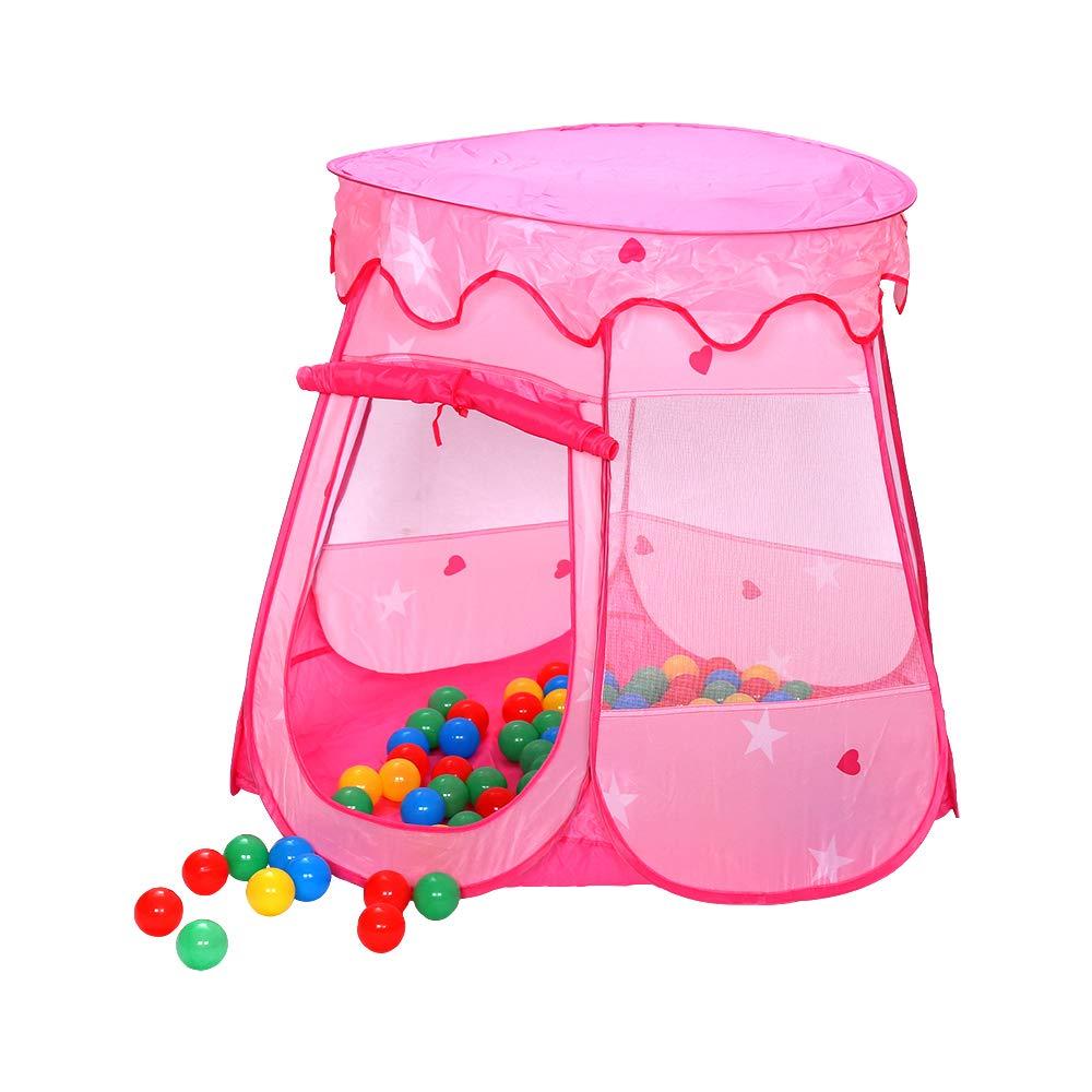 Hengda Kinderzelt Spielhaus 3-Teiliges Spielzelt mit Tunnel 200 B/älle B/ällebad Pop Up tragbares Pop-UP Kinderspielzelt mit Tragetasche Spielhaus f/ür innen und au/ßen Gelb-Orange