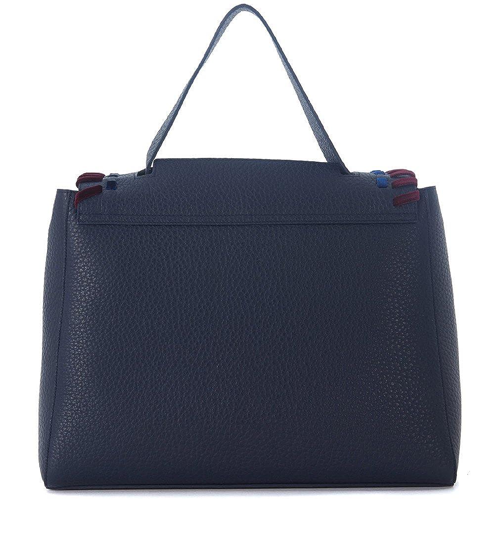 e8c4c530a94a8 Orciani Handtasche Genarbtem Leder Blau Mit Details Aus Samt  Amazon.de   Bekleidung