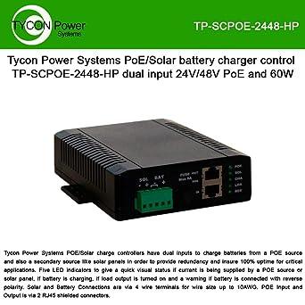 Amazon.com: 24V 8A PWM Cargador de batería solar con 48 V 30 ...