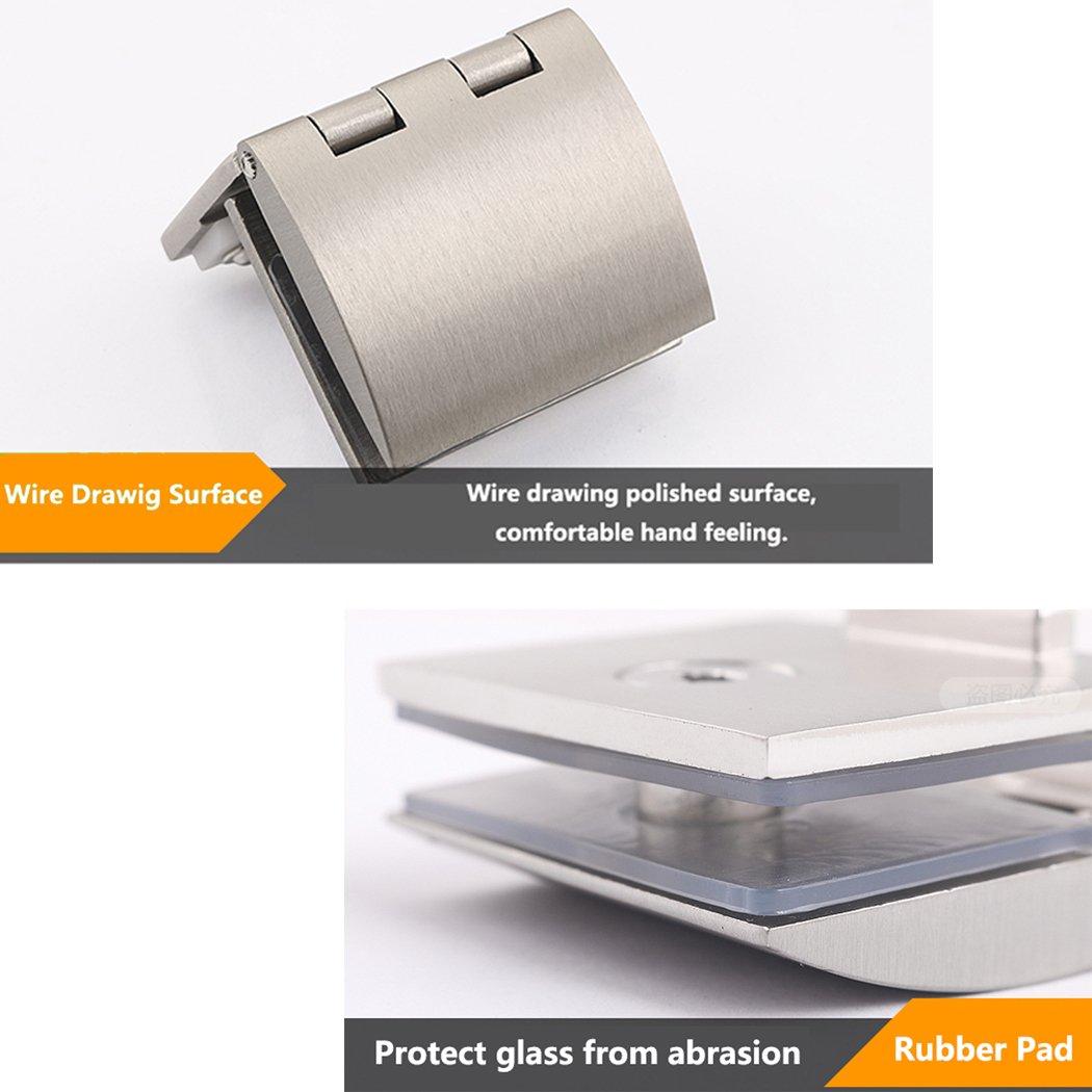 Glast/ürscharnier-Set Zinklegierung Glas-T/ürklammer Duschscharnier
