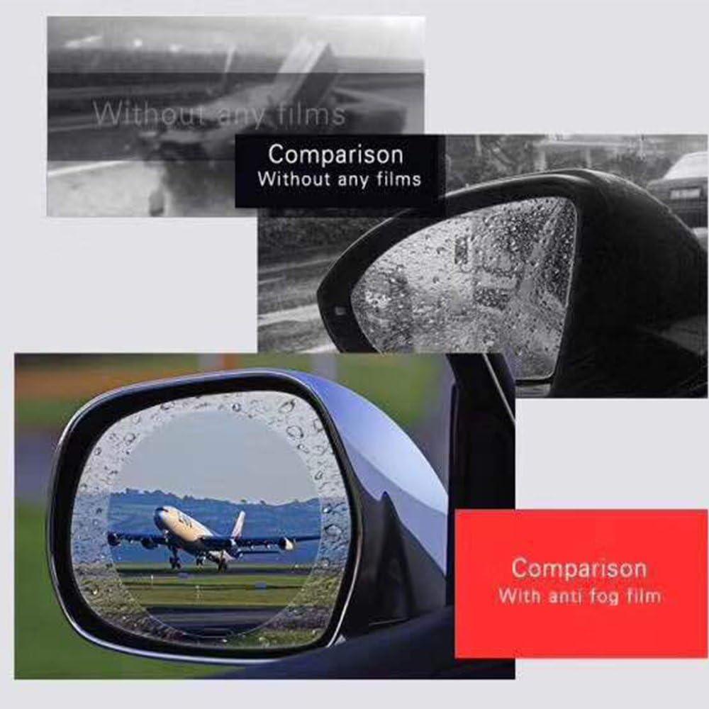 Winpower Wing Mirror Rainproof Film Raining Day Safe Driving Window Side Mirrors Waterproof Films 4 Pieces