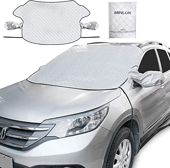 Honda or Automobile with 58x 46 Fukang Car Windshield Snow Cover with Mirror Covers Extra Large Frost Guard Protector Fits Most Car SUV Magnetic Waterproof Windshield Winter Cover Van Truck