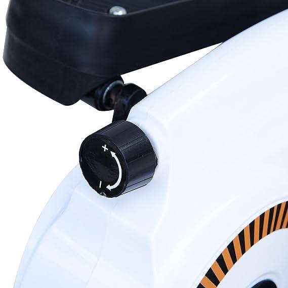 Homcom Stepper Resistencia Ajustable Máquina de Step Mini Bicicleta Elíptica Pantalla LCD Control Magnético Pedal Antideslizante Carga 110kg Equipo de la ...