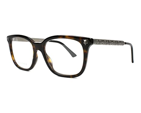 32540ba358a4 Image Unavailable. Image not available for. Color: Eyeglasses Gucci GG 0218  O- 002 HAVANA/SILVER