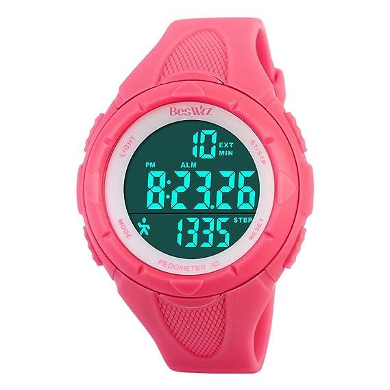 Relojes digitales deportes al aire libre, impermeables, electrónicos, multifunción, relojes de natación