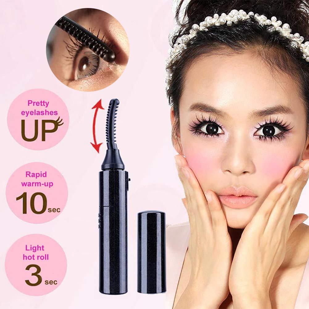 clifcragrocL Eyelash Curler Portable Eyes Makeup Heat Insulated Brush Women Electric Mini