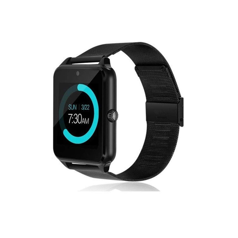 Bluetooth Smart Watch Sleep Monitor Wrist Watch for Men Women Kids (Black)