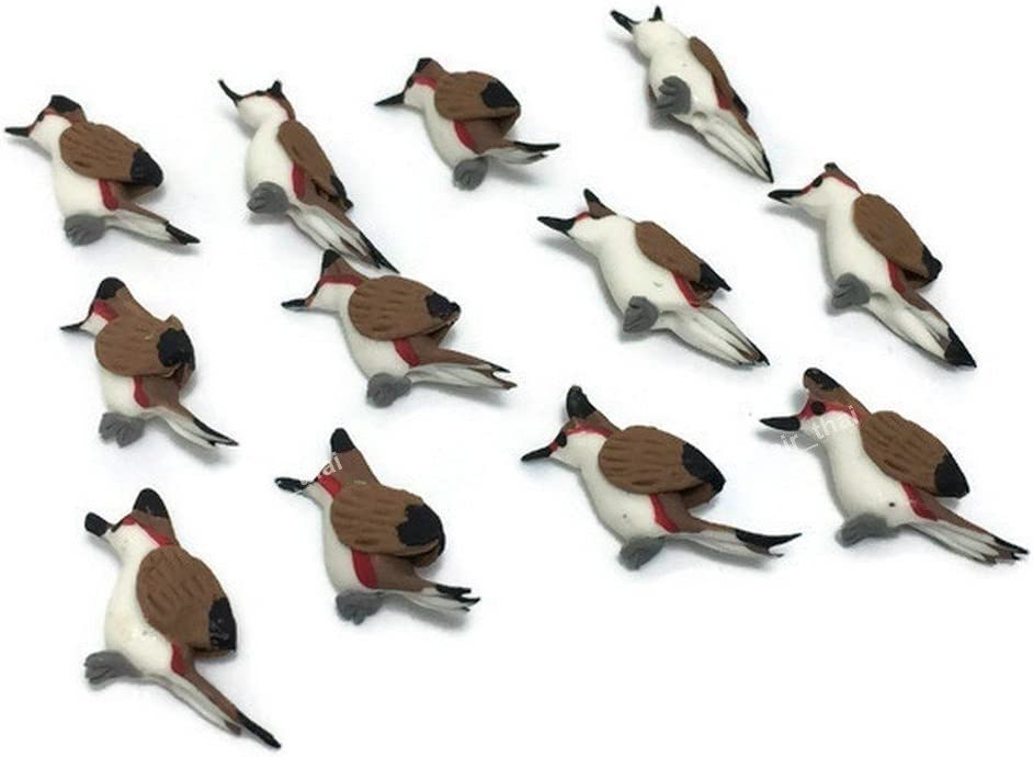 Mr_air_thai_Miniature Lot of 12 Miniature Bird Fairy Garden Supplies Animal Figurine Furniture Dollhouse GD#015