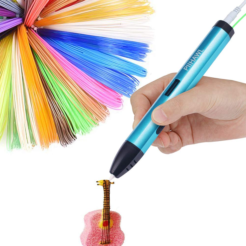 3D Printing Pen with PLA Filament,One Key Operation,Speed Control,OLED Display,Non-Toxic and Pollution-Free,Non-Clogging,Suitable for Kids,Adults,Doodling,Art Making and DIY