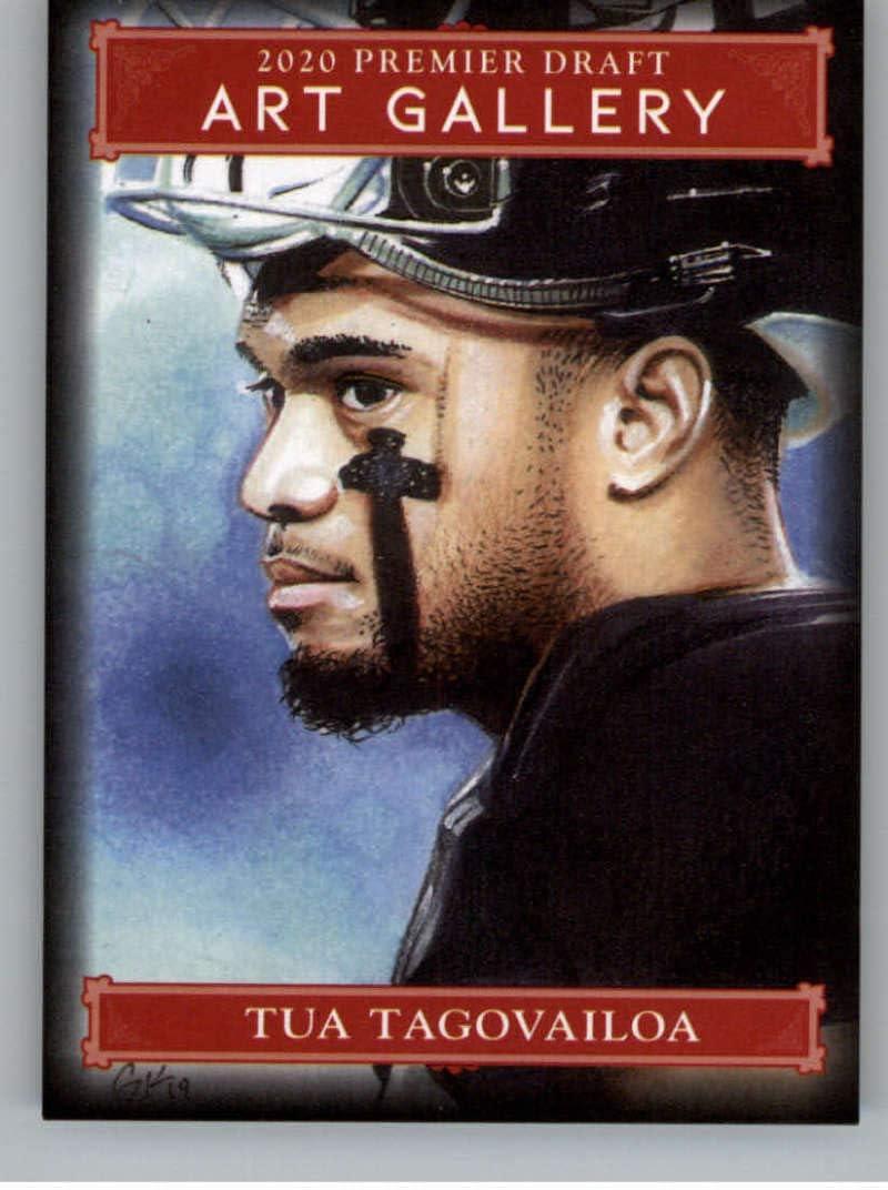 2020 SAGE HIT Premier Draft Art Gallery #AG-1 Tua Tagovailoa RC Rookie Football Trading Card
