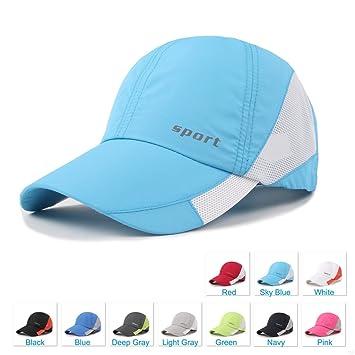 f9cb4529472f2a SLBGADIEME Lightweight Breathable Baseball Hat Outdoor Sport Running  Cap(Sky Blue)