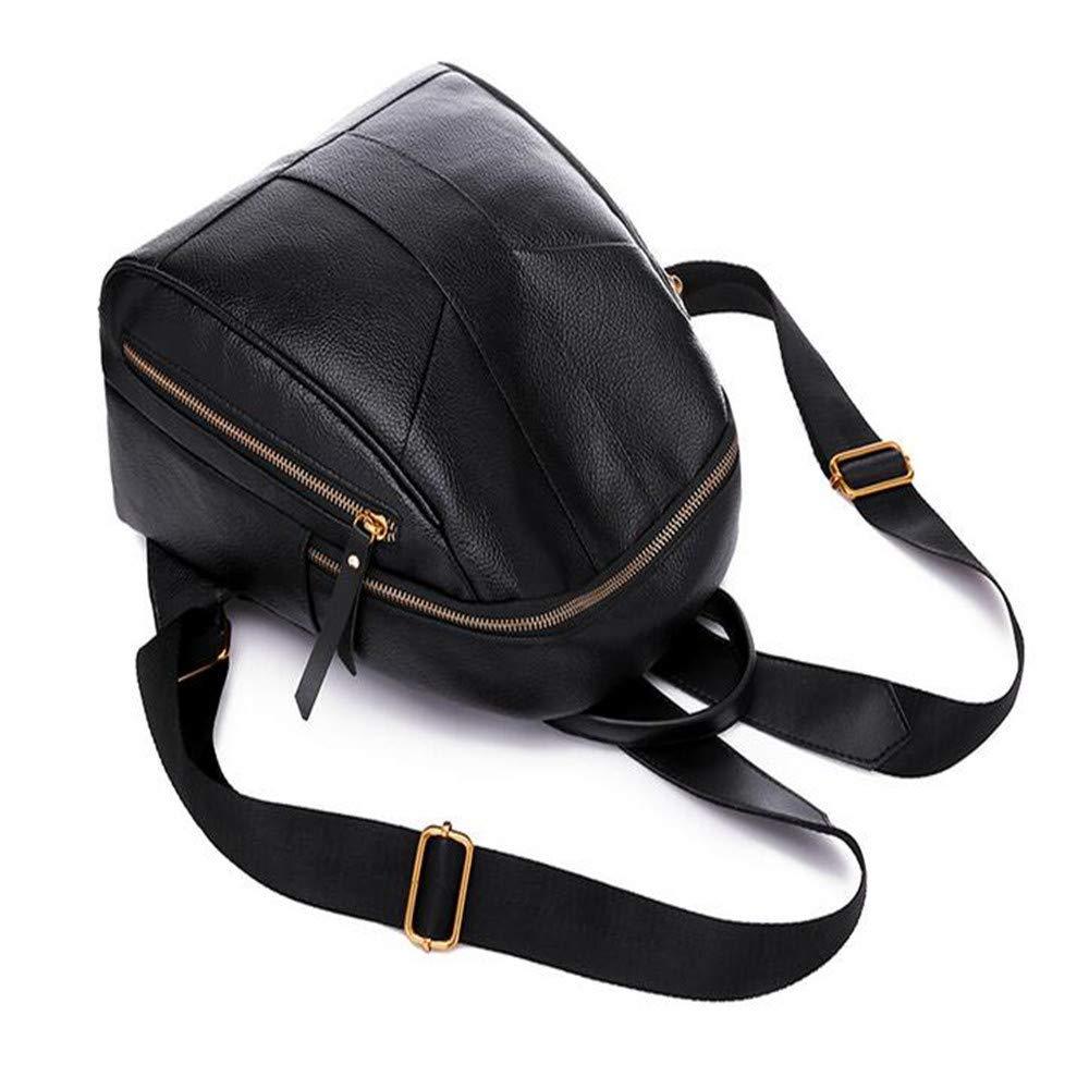 LIZHONG-SLT Fashionable Shoulder Bag, Women's Tide, Little Bag, Soft Leather PU Leisure Bag,Black,(Width 24cm Thickness 18cm high 30cm) by LIZHONG-SLT (Image #5)
