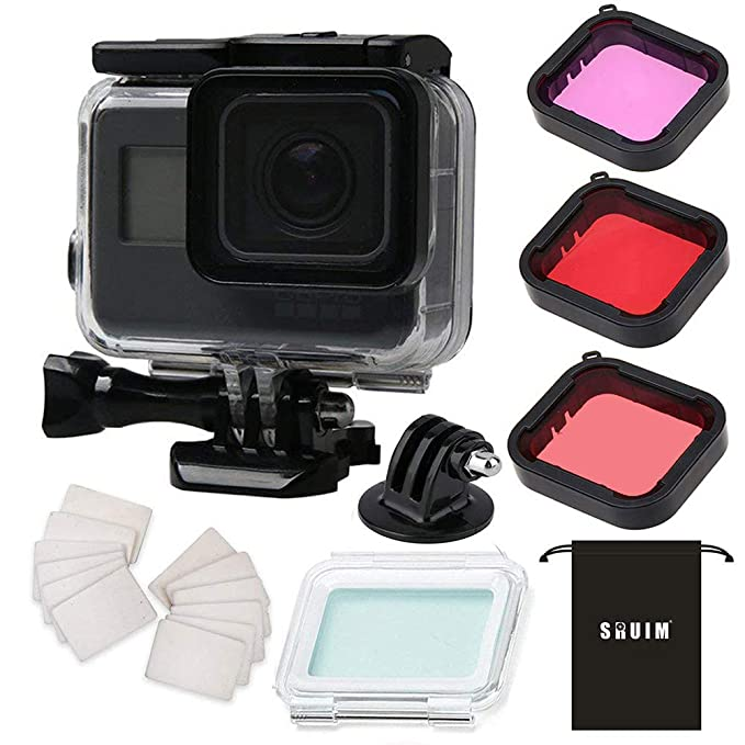 waterproof case for gopro hero 7 hero 6 hero 5 hero 2018 black accessories, housing case protective shell with anti fog inserts and filter kit accessories $5 banner 5 accessories #6