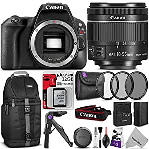 Canon EOS Rebel SL2 DSLR Camera with 18-55mm Lens w/ Advanced Photo and Travel Bundle