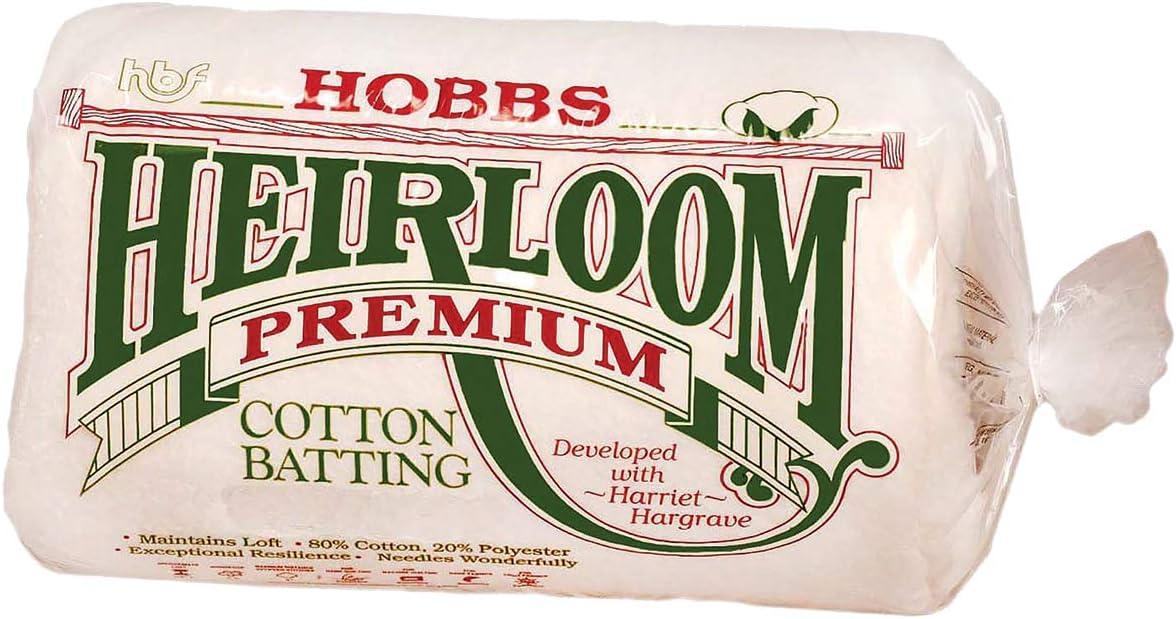 Heirloom Premium Cotton Blend 90 x 108 Batting