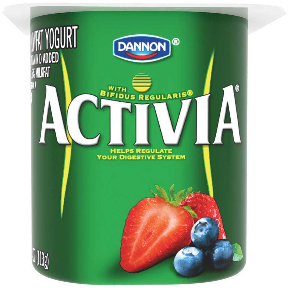 Activia Mixed Berry Probiotic Yogurt, 4 Ounce -- 24 per case.