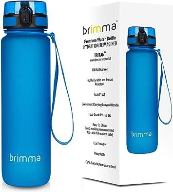 500ml Clear Transparent Tritan Water Bottle BPA Free Sports Hydration Flask Gym