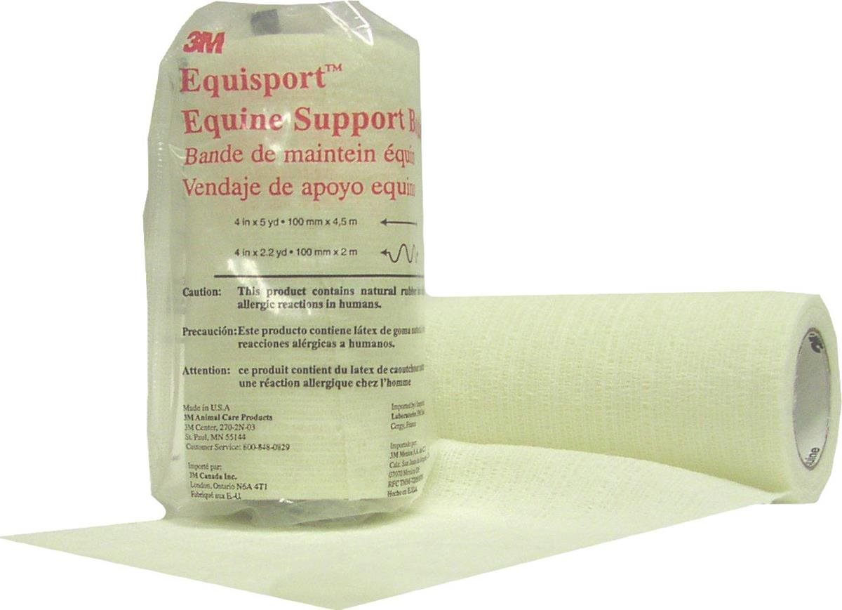 3M Equisport Equine Support Bandage for Horses, 4-Inch by 5-Yard, White by 3M (Image #1)