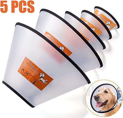 Fezep-Dog-Cone-Collar, 5 PCS Adjustable Protective Collars