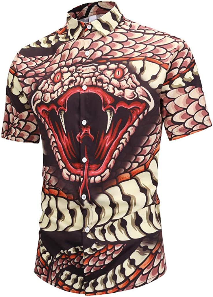 Summer Shirt-Imakcc Unisex Casual 3D Pattern Printed Short Sleeve T-Shirts Top Tees