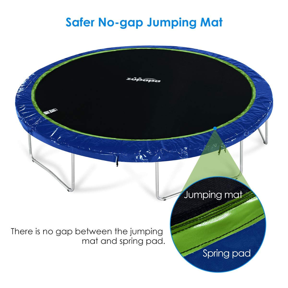 Zupapa 2019 Trampoline 15FT 14FT 12FT 10FT Newest No-Gap Jumping Mat Replacement (10FT) by Zupapa (Image #7)