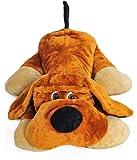 Grand chien en peluche allongé 110cm, peluche géante