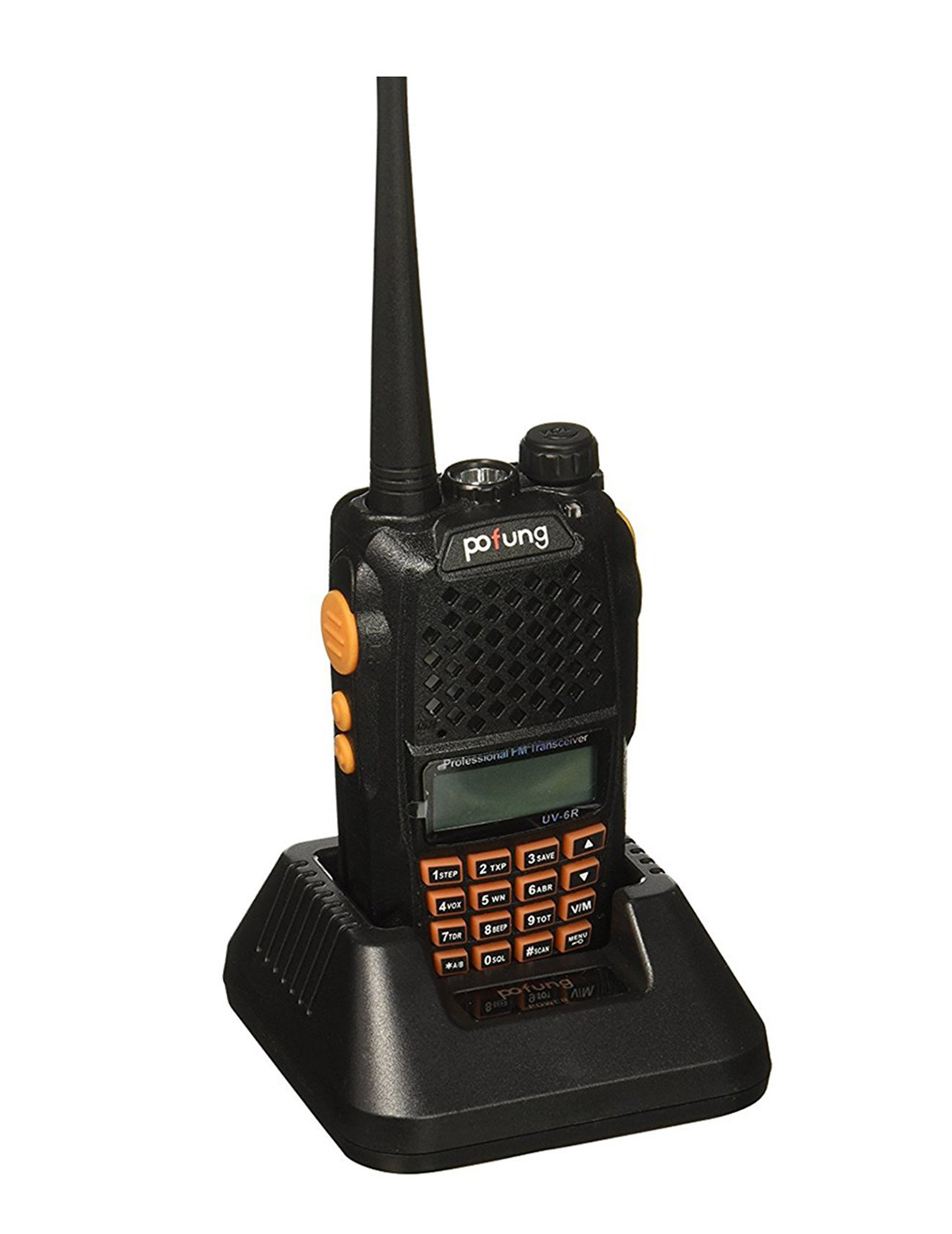 Mengshen Baofeng UV-6R Two Way Radio Dual-Band Transceiver Walkie Talkie Better than UV-5R VHF UHF FM 136-174/400-520MHz High Power 5W/1W Up to 128 Channels Built-in VOX Function with LED Flashlight
