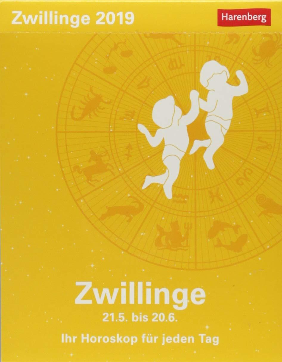 Zwillinge - Kalender 2019: Ihr Horoskop für jeden Tag Kalender – 26. Juni 2018 Harenberg Robert Satorius Athesia Kalenderverlag GmbH 3840017521