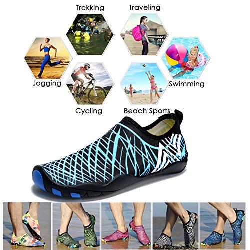 Men Barefoot Quick Ceyue Swim 14 Shoes Shoes Drainage with Holes Water Dry Aqua amp; Blue Womens gRRx40