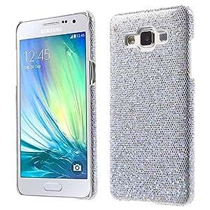 MTP Samsung Galaxy A5 A500, Galaxy A5 Duos A5000 Carcasa Dura, Cover, Case - Purpurina - Plateado