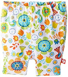 Zutano Baby-girls Infant Balalaika Bike Shorts, White, 6 Months